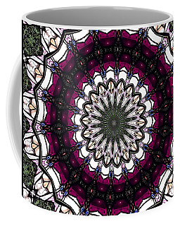 Coffee Mug featuring the photograph Stained Glass Kaleidoscope 4 by Rose Santuci-Sofranko