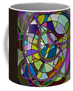 Coffee Mug featuring the digital art Stained Glass Mother And Child by Iowan Stone-Flowers