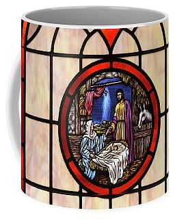 Stained Glass Nativity Window Coffee Mug