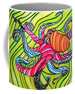 Stained Glass Octopus Coffee Mug