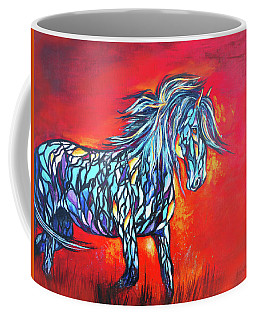 Stained Glass Stallion Coffee Mug by Karen Kennedy Chatham