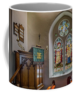 Coffee Mug featuring the photograph Stained Glass Uk by Adrian Evans