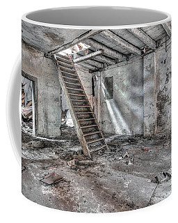 Coffee Mug featuring the photograph Stair In Old Abandoned  Building by Michal Boubin