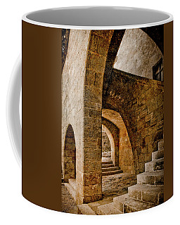Coffee Mug featuring the photograph Rhodes, Greece - Stair by Mark Forte