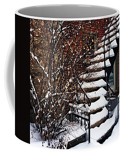 Staircase Covered By Snow Coffee Mug