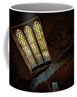 Coffee Mug featuring the photograph Staircase With Glass Window by Enrico Pelos