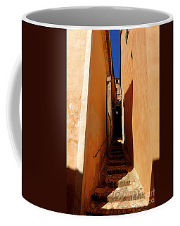 Coffee Mug featuring the photograph Stairs In Roussillon by Olivier Le Queinec