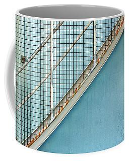 Stairs On Blue Wall Coffee Mug