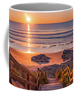 Coffee Mug featuring the photograph Stairs To The Sunset by Dmytro Korol