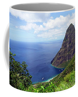 Coffee Mug featuring the photograph Stairway To Heaven View, Pitons, St. Lucia by Kurt Van Wagner