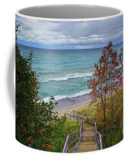 Coffee Mug featuring the photograph Stairway To Lake Superior by Rachel Cohen