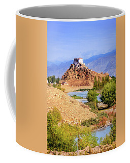 Coffee Mug featuring the photograph Stakna Monastery by Alexey Stiop