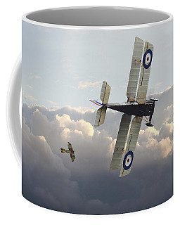 Coffee Mug featuring the digital art Stalked - Se5 And Albatros Dlll by Pat Speirs