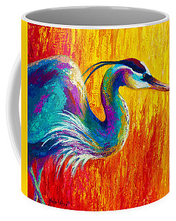 Stalking The Marsh - Great Blue Heron Coffee Mug