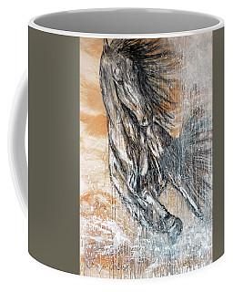 Coffee Mug featuring the painting Stallion Fury by Jennifer Godshalk