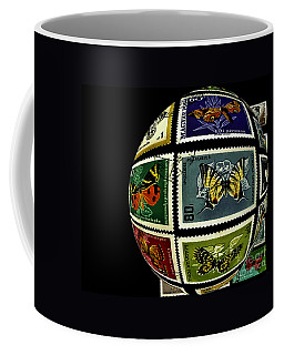 Stamp Collecting Around The World Coffee Mug by Carol F Austin