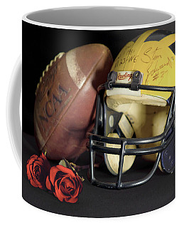 Stan Edwards's Autographed Helmet With Roses Coffee Mug