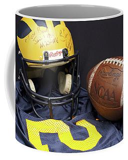 Stan Edwards's Autographed Wolverine Helmet Coffee Mug