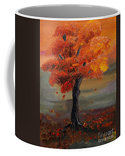 Stand Alone In Color - Autumn - Tree Coffee Mug