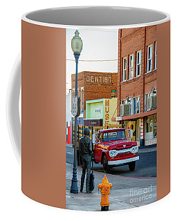 Coffee Mug featuring the photograph Standin On The Corner Park by Thomas R Fletcher