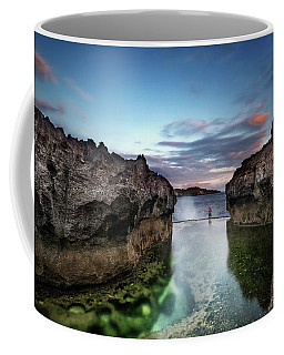 Coffee Mug featuring the photograph Standing At The Tip Of Sea by Pradeep Raja Prints