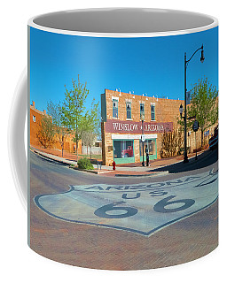 Standing On A Corner Coffee Mug by Charles Ables