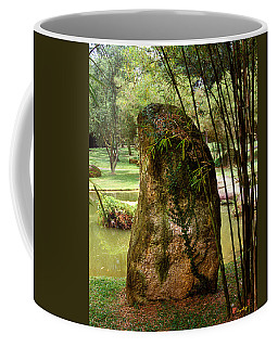 Standing Stone With Fern And Bamboo 19a Coffee Mug