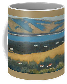 Coffee Mug featuring the painting Stanford By The Bay by Gary Coleman