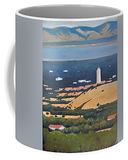 Coffee Mug featuring the painting Stanford From Hills by Gary Coleman