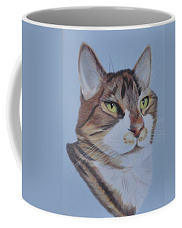 Coffee Mug featuring the drawing Stanley by Jo Baner