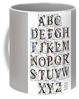 Coffee Mug featuring the painting Stanza's Flowers And Butterflies Book by Stanza Widen
