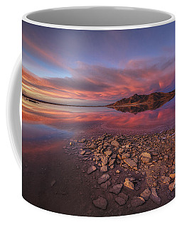 Coffee Mug featuring the photograph Sunset At A Favorite Spot On The Great Salt Lake by Spencer Baugh