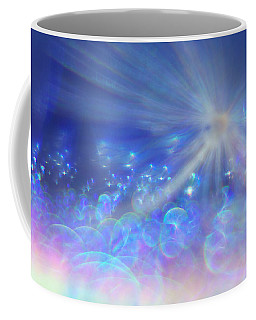 Coffee Mug featuring the photograph Star And Bubbles by Greg Collins