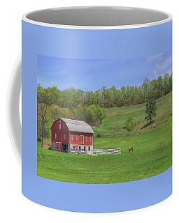 Star And Moon Barn Coffee Mug by Sharon Batdorf