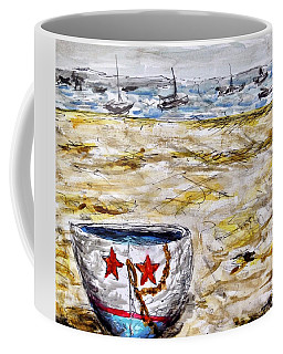 Coffee Mug featuring the painting Star Boat by Monique Faella