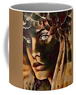 Coffee Mug featuring the digital art Star Child by Kathy Kelly