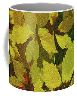 Star Leaves On The Forest Floor Coffee Mug