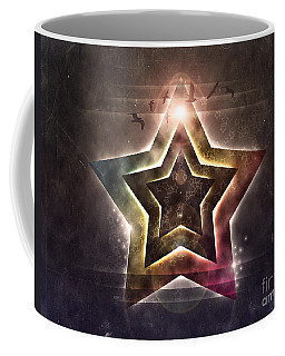 Coffee Mug featuring the digital art Star Lights by Phil Perkins
