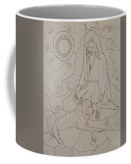 Coffee Mug featuring the drawing Star Maiden by Donelli  DiMaria