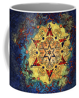 Star Shine Blue And Gold Coffee Mug