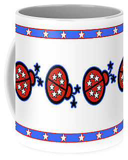 Star-spangled Lady Bugs Coffee Mug by Methune Hively