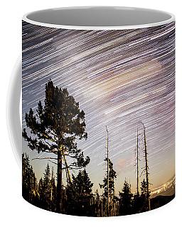 Star Trails At Fort Grant Coffee Mug