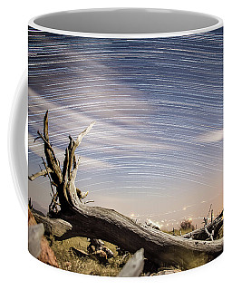 Star Trails By Fort Grant Coffee Mug