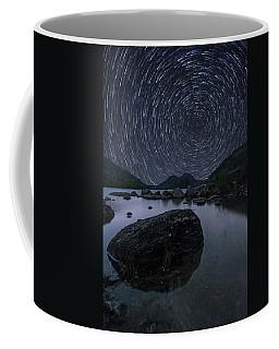 Star Trails Over Jordan Pond Coffee Mug