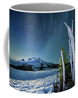 Star Trails Over Mt. Hood Coffee Mug