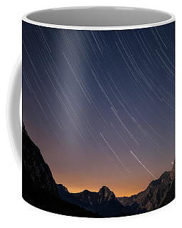 Star Trails Over The Apuan Alps Coffee Mug