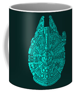 Star Wars Art - Millennium Falcon - Blue 02 Coffee Mug