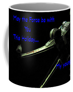 Coffee Mug featuring the photograph Star Wars Birthday Card 5 by Micah May