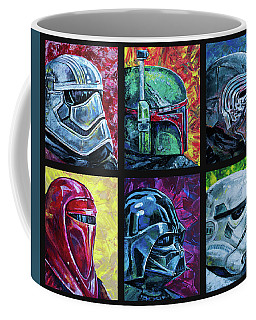 Star Wars Helmet Series - Collage Coffee Mug by Aaron Spong