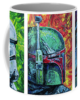 Star Wars Helmet Series - Triptych Coffee Mug by Aaron Spong